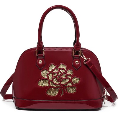 Shell bag women leather handbags 2019 female luxury handbags women bags designer flower Sequins women messenger shoulder bags 4