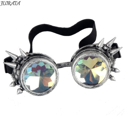New Multicolor Steampunk Goggle Glasses Welding Punk Spiked Gothic Cosplay