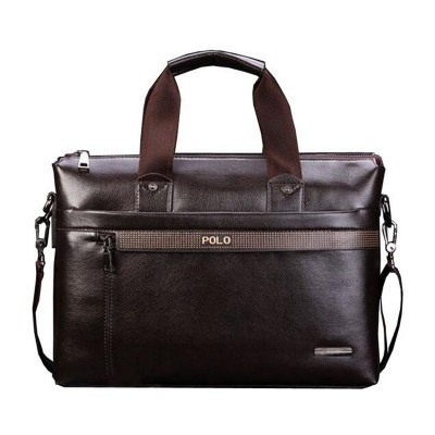 Hot Sell Promotion Simple Dot Design Famous Brand Business Men Briefcase Bag,Luxury Wholesale Leather Laptop Bag For Man