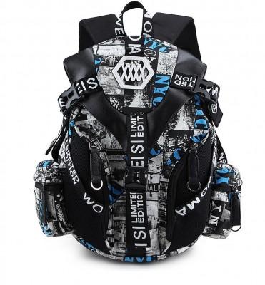 Outdoor Travel Backpack Goth School Bag Rucksack Shoulder Satchel Bag Red