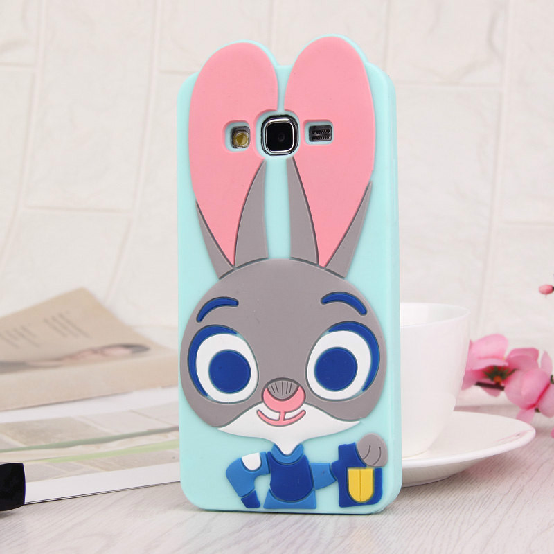 Rabbit Phone Case Rabbit 3D Cartoon Soft Silicone Case for Samsung Cartoon Phone Cases Personalised Phone Case Funny Phone Cases Cute Phone Cases Rabbit Case