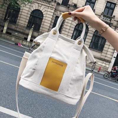 2019 Summer New Womens Large-capacity Canvas Portable Leisure Shoulder Bag Korean Wild Messenger Bag Canvas Tote Bag