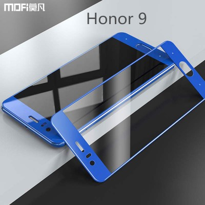 MOFi Case for Huawei honor 9 glass tempered glass MOFi original huawei honor 9 screen protector blue gold 2.5D full cover safety film