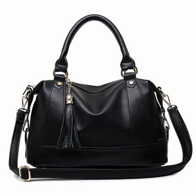 a75b2046bd Large Handbags 2017Women Bag Fashion PU Leather Woman Shoulder Bag Casual  Tassel Tote Bags Sac A