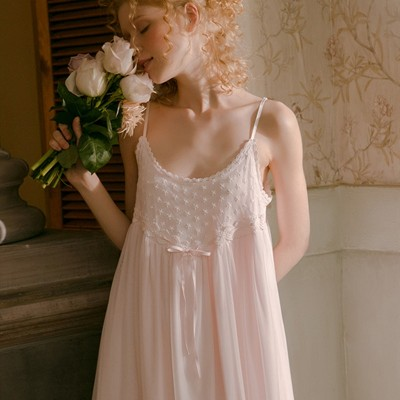 Sleepwear Camisole Skirt Woman Summer Lace Nighty Sexy Nightgown Nighties For Women Nightwear Boho