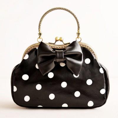 Princess Gothic lolita bag Original Handmade Bag sweet lady wave point printing stereo bow knot hard handbag  b0024