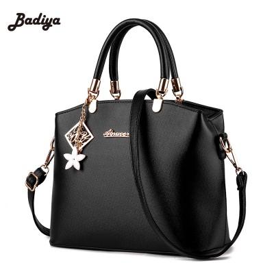 Brand Women Soid Handbag European and American Fashion PU Leather Messenger Shell Bag Metal Pendent Woman Handbag