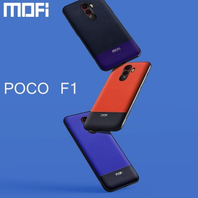 Mofi For Xiaomi Pocophone F1 Case Pu Leather Back Cover Business For Xiaomi Pocophone F1 Case Cover