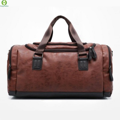 New Genuine leather travel bag Men duffel bag large capacity bags with shoulder Strap shoulder bag leahter Handbag for Male