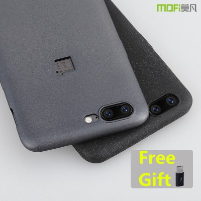 MOFi Case for Oneplus 5 case cover gray matte MOFi original Soft back cover oneplus 5 cover black capa coque funda one plus 5 case
