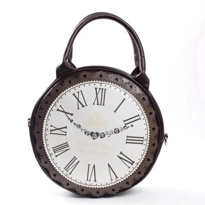 Japanese Harajuku Lolita Cosplay College Girl Vintage Clock Shape Tote Bag Single Shoulder/Cross Body Bag