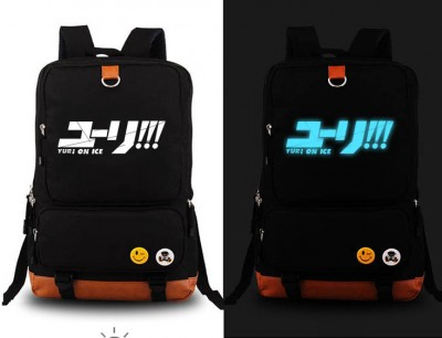 Cosplay Bag Anime YURI!!! on ICE  Katsuki Yuri cosplay Backpack Fashion Yuri on ice Canvas Student Luminous Schoolbag Unisex Travel Bags