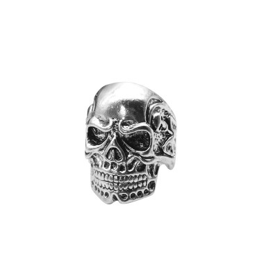 Punk Vintage Cool Men Ring Gothic Skull Head Rings Stainless Titanium Steel Skeleton Rings Jewelry Dropshipping Anel Masculino