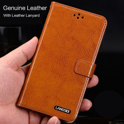 "Phone Cases For xiaomi mi max 2 Genuine Leather Case For Xiaomi max2 case 6.44"" Card Slot Stand Protective Magnetic Flip Cover"