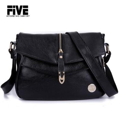 2017 Genuine Leather Women's Handbags Fashion Womens Messenger Bag Shoulder Bag Ladies Crossbody Bags High Quality