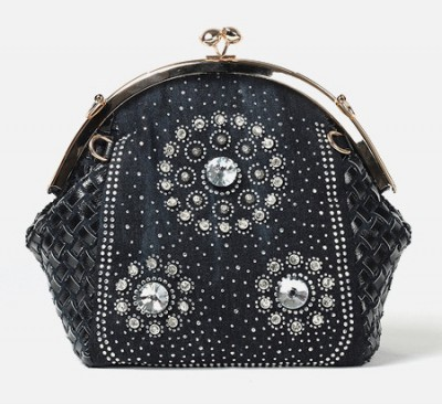 Rhinestone Handbags Designer Denim Handbags New style ladies messenger bags designer shell shape and diamond decoration women handbags silver gold