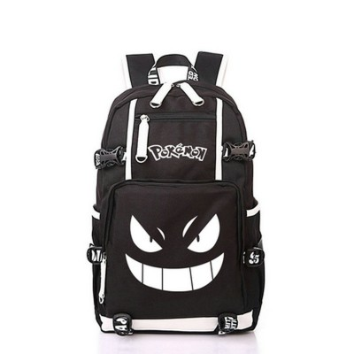 Cosplay Bag NEW Anime Luminous Printing Backpack Pokemon Gengar Cosplay Backpacks School Bags for Teenager Girls Boys Mochila High-capacity