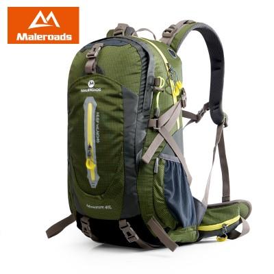 Maleroads Mountaineering Climb Backpack Travel Pack Trekking Rucksack Camp Hike Equipment 40 50L for Men Women males Teengers