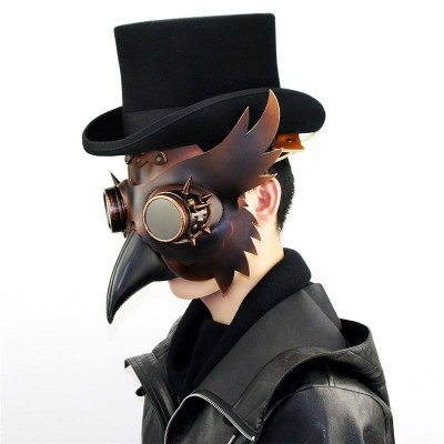 Uniqstore Steampunk Plague Beak Mask Halloween Party Holiday Party Bar Cosplay Prop Gifts Cosplay Unisex