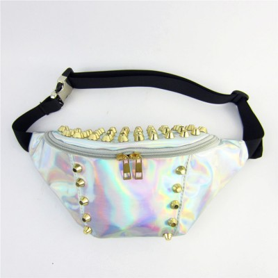 Waist Packs Hologram Multifunctional Belt Bags Vintage Solid Rivet Funny Pack Ladies Bags Designer Famous Brand Belt Bag