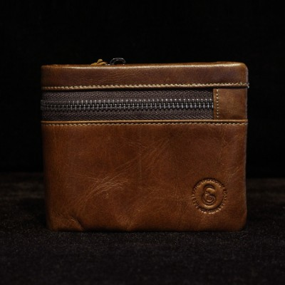 2019 Sale Direct Selling Genuine Crazy Horse Cowhide Leather Wallet Short Coin Purse Small Vintage Brand High Quality Designer