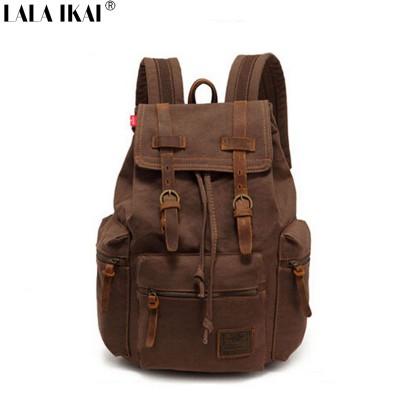 New Vintage Backpack Fashion Canvas Backpack Leisure Travel School Bags Unisex Laptop Backpacks Men Backpack Mochilas L-1039