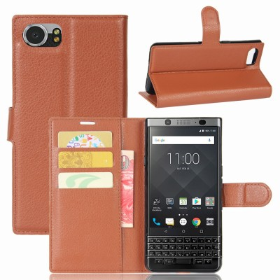 Blackberry Keyone Case Litchi Grain wallet leather Case For BlackBerry Priv/Leap/Keyone/Passport Silv