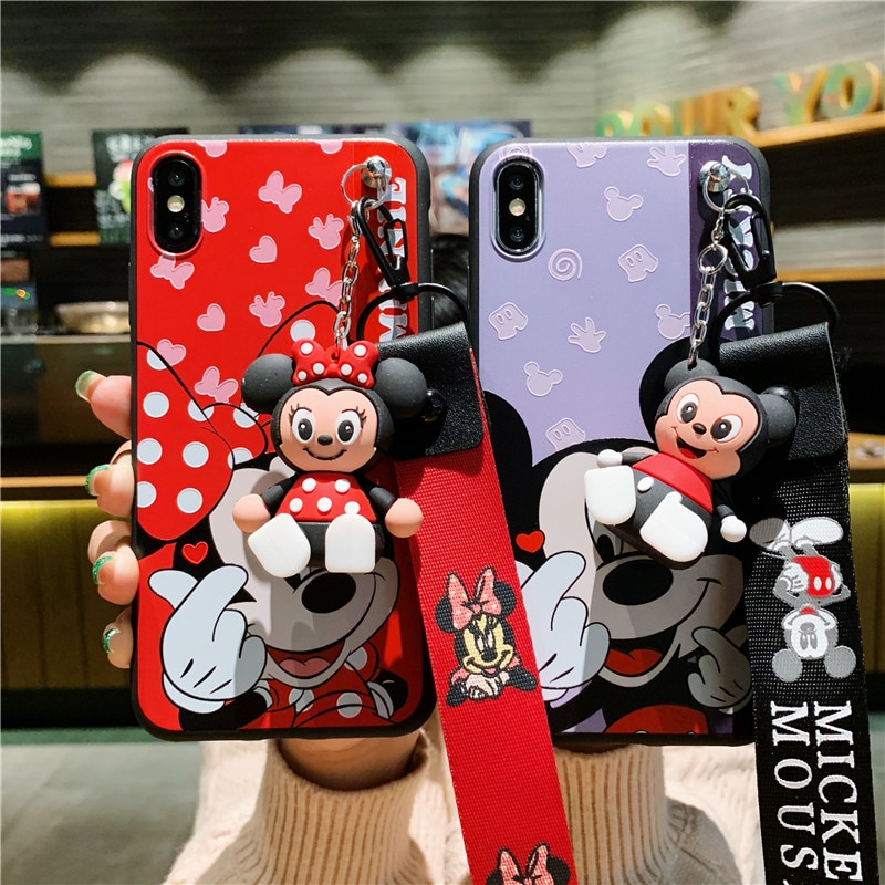 Cartoon Phone Case For iPhone Soft Lovely Mickey Minnie Mouse iPhone XS MAX XR  X 7 8 Plus 6 6S Plus 5 SE Case