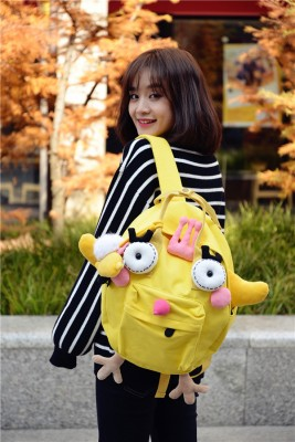Lunar New Year Cocktail Cute Little Yellow Chicken Handmade canvas Backpacks shoulder bags Cotton Canvas Crown Cube Animal Modeling Bags
