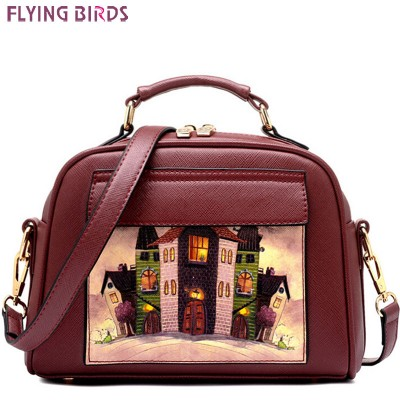 FLYING BIRDS women bag women leather handbag brand shoulder bag messenger bags bolsos European and American Style purse LS8235fb