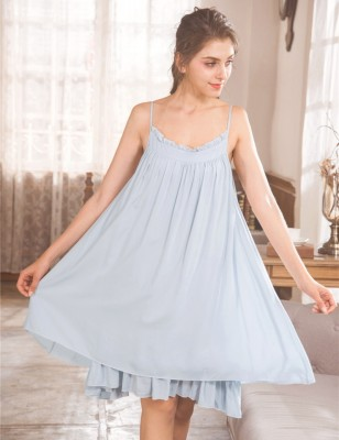 Casual Homewear Dress Nightgown Sexy Nightdress Women Summer Loose Sleepwear Ladies Sling Short Skirt  3 Color