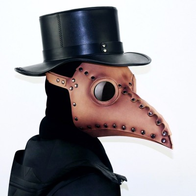 Halloween Party Cosplay PU Bird Mouth Mask Steampunk Plague Doctor Masks Props for Masquerades Costume Accessory