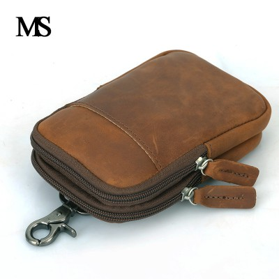 Vintage Genuine Leather Bags Waist Packs For Men Belt Waist Bags For Men Casual Fashion Brand Business Bag High Quality TW1660