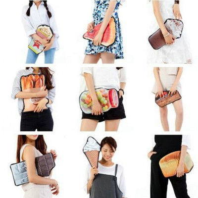 Fun Popular Cheap Fashion Unique Purses and Handbags fashion girls funny clutch creative shape baked bread stick strawberry pizza candy bottle bag womens novelty handbag coin purse