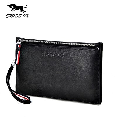 CROSS OX 2017 Summer New Arrival Men's Wristlet Clutch For Men Wallets For Men Card Organizer Genuine Leather Clutch WL092M