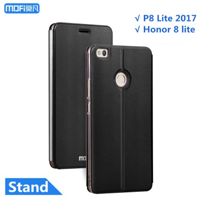 "Huawei honor 8 lite case cover huawei p8 lite 2017 case cover PU leather flip case stand capa coque funda black gold pink 5.2"" Phone Cases For huawei"