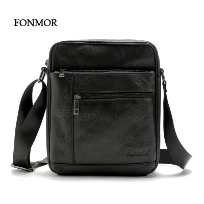 Fonmor 2019 New Men's bags Cowhide Leather Shoulder Bag Multiple Zipper Leisure Bag Man Cross body Travel bags