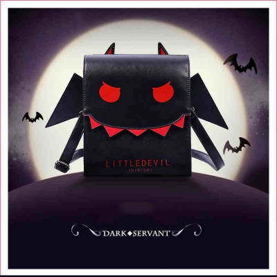 Women Gothic Vampire Bat Wing Crossbody Bag Punk Style PU Cosplay School Bag for Girls Angel Wings Little Devil Messenger Bags