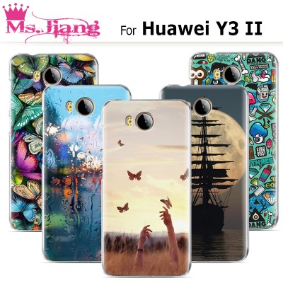 For Huawei Y3II case ,New Cute Fashion Paint Hard Plastic Phone Case For fundas Huawei Y3II 2 Cover