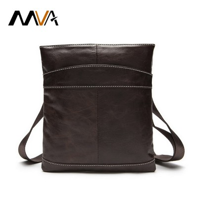 Genuine leather Men bag zipper men's messenger bags fashion flap crossbody bag handbags single shoulder bags