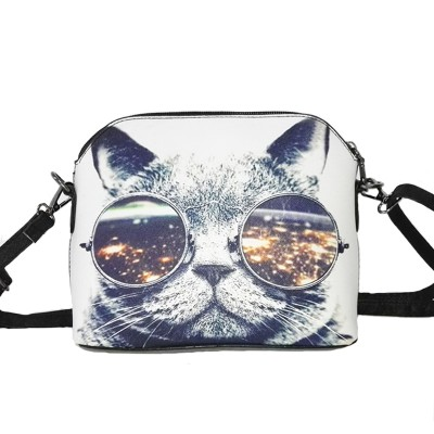 Hot sale 2017 Cats Printing women Handbags Shell bag women PU leather messenger bags new arrival women cross-body bags WLHB1116