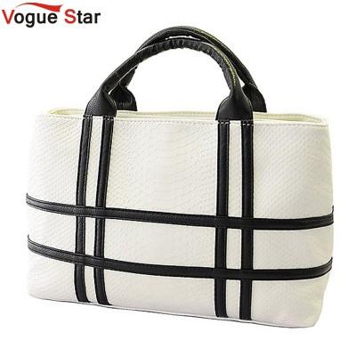 Vogue Star 2019 new black and white hit color shoulder bag  pu leather crocodile pattern square handbag female tide YK40-785