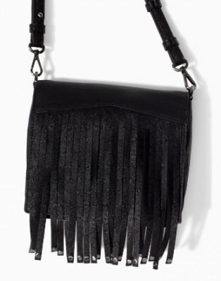 AB807 Punk MYSTERIOUS GOTHIC solid Black Tassels Rivets PU women sling bag Messenger Bags Cross Body New 2014 0.25