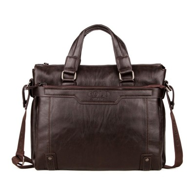 COUPON fashion solid brown casual high quality brand leather Men Business Handbag Briefcase Messenger shoulder bags classical PU