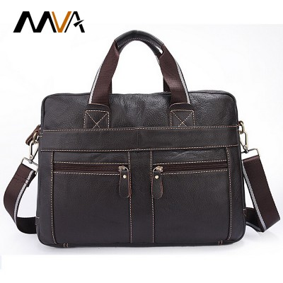MVA Genuine Leather Men Bag Men Messenger Bags Leather Laptop Bag Handbag Tote Business Briefcase Laptop Bags Portfolio
