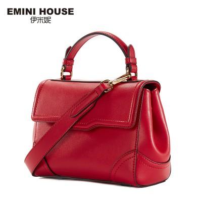EMINI HOUSE Split Leather Shoulder Bag Retro Style Handbags Women Messager Bags High Quality Crossbody Bags For Women