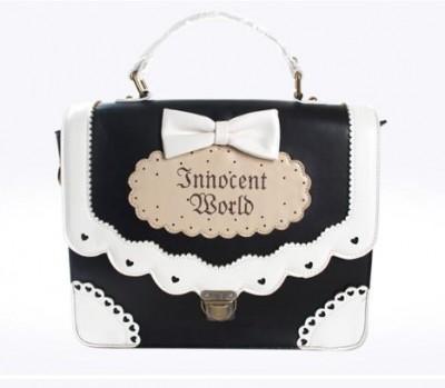 Lolita Kawaii Gothic Bow Cute Sweet Harajuku Gothic Handbag Messenger Soulder Bag
