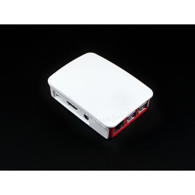 Official Raspberry Pi case for Raspberry Pi 3 B or Raspberry Pi 3 Model B Plus Red and White Color High-quality ABS construction