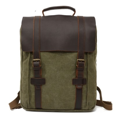 Computer Backpack Retro Mens Canvas Shoulder Bag Casual Mens Bag Large Capacity Travel Bag