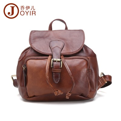 Fashion brand genuine leather female backpack Retro Top grade mini backpack Cow Leather lovely backpacks for teenage girls